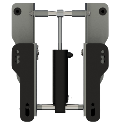 Hydraulic lift for outboard boat motor